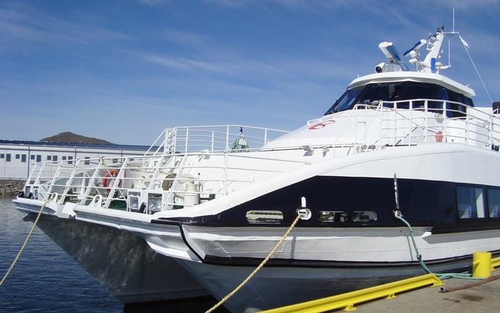 Bilde av hurtigbåt.