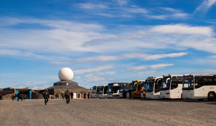 Busser ved Nordkapp