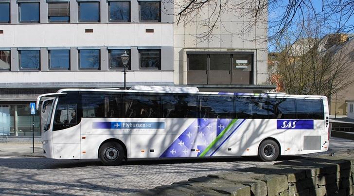 Bilde av flybussen i Stavanger.