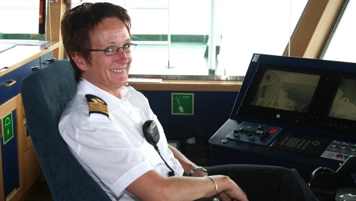 Bilde av kaptein på fartøy.