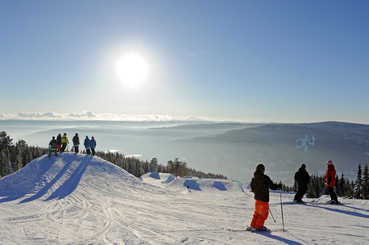 Picture of people skiing.