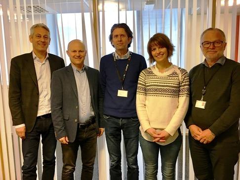 F.v: Kjetil Førsvoll (Boreal), Ivan Fossan (Boreal), Karl Inge Nygård (Skyss), Åshild Fossgard Sandøy (Skyss) og Oddmund Sylta (Skyss).