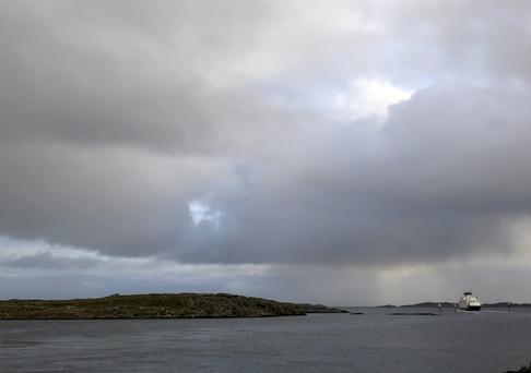 Boreals MF «Vollsøy» på tur fra Kvitsøy søndag 1. desember 2019. Foto: Jon Kristian Fadnes