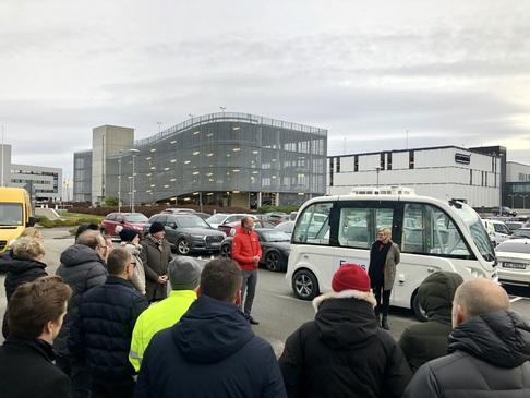 Åpning av ny rute for selvkjørende buss på Forus.