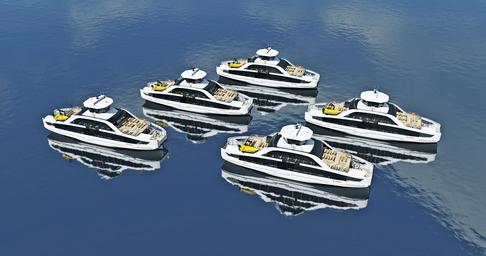Båttilbudet til øyene som ligger i Indre Oslofjord vil bli betjent med fem nye elektriske fartøy.